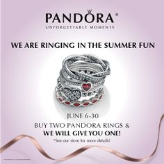 #SpecialPromotion: Last chance in 2014 - buy 2 PANDORA rings and we'll give you one! (in-store only) www.benbridge.com/shop/pandora-rings