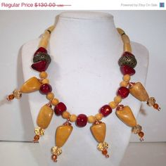 Valentines Day Special Ambar gemstone Necklace / by DaNaturalRoots, $104.00