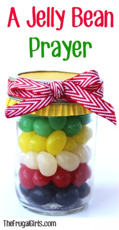We all know that Jelly beans are the classic Easter treat ~ They& also a fun way to share Jesus, too? With this A Jelly Bean Prayer Gift in a Jar! Chocolates, Wordless Book, Diy Cadeau Noel, Easter Story, Easter Treats, Easter Gift, Easter Party, Easter Decor, Happy Easter