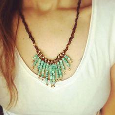 Boho necklace Turquoise necklace  Tribal necklace Boho
