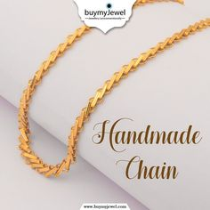 """Yes, it's """"Impossible to Resist"""".❣ Exclusive Handmade Chain Live now. Mens Gold Chain Necklace, Mens Gold Jewelry, Chain Jewelry, Bridal Necklace, Bridal Jewelry, Unique Jewelry, Gold Chain Design, Gold Ring Designs, Gold Bangles Design"""