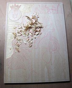 Tsathoggua Toad God Necronomicon woodcut print 11 by Xylographilia