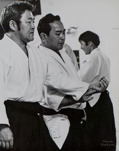 My Master Koichi Tohei Sensei practicing how to move with Ki after someone grabs your wrist.
