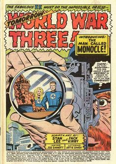 Diversions of the Groovy Kind: The Fantastic Four by Jack Kirby. Comic Book Pages, Comic Page, Comic Book Artists, Comic Book Covers, Comic Artist, Comic Books Art, Marvel Comics Superheroes, Marvel Art, Jack Lee