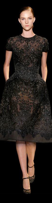 Elie Saab - Haute Couture S/S 2013 my perfect little black dress Couture Fashion, Runway Fashion, Look Fashion, High Fashion, Dress Fashion, Abed Mahfouz, Zuhair Murad, Mode Style, Dream Dress