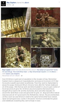 Over 50 trillion in gold and oil was stolen in the invasion of Iraq.