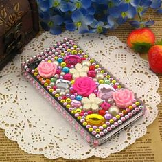 Blinged out cell phone cover? Yes, please!