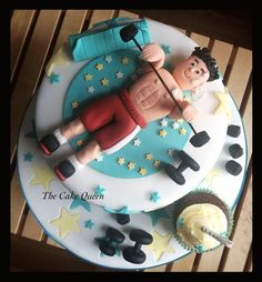 Cake Designs For Gym Lovers : 1000+ images about Gym Cakes on Pinterest Gym cake ...