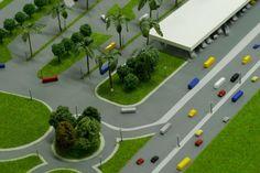 The model of a bus station in Abidjan. Макет автобусной станции города Абиджан