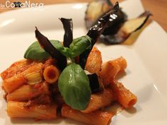 Pasta with Eggplant: REEEALLY good!