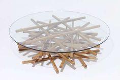 --A bit odd. Looks like an unlit pile of firewood.