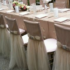 Chair covers by Wildflower Linen