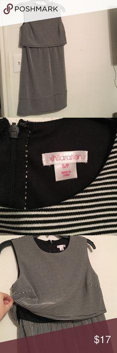 Xhilaration striped dress Black and white stripe dress. Size small. Hidden zipper down back. No trades. Xhilaration Dresses Mini