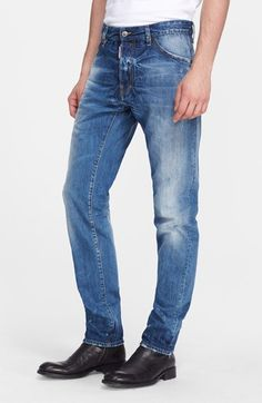 DSQUARED2 'Cool Guy' Skinny Fit Jeans (Blue). #dsquared2 #cloth #pant