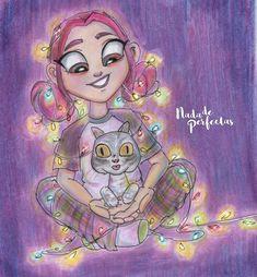 ✨ éste dibujo tiene un significado muy hermoso para mi, por que agregué a una mascota/gata que rescatamos, Fafi, ella llegó junto a mí hace algunas semanas atrás, muy delgada, algo herida, después de llevarla a control veterinario, descubrimos que...
