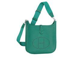 Hermes 28cm Clemence Blue Jean Kelly Bag with Palladium Hardware