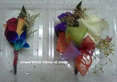 Flamboyant Boutonniere & Corsage Combo by Dream World Florist & Decor