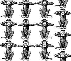 monkeys_22027 fabric by foundsun on Spoonflower - custom fabric