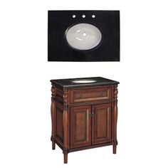 Shop Style Selections Bombay 30-in x 21-in Wood Undermount Single Sink Bathroom Vanity with Granite Top at Lowes.com