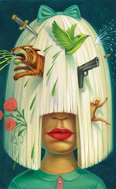 made by: Chris Buzzelli - illustration (this must be singer Sia , I love it)
