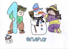 Activipeques: Meses del año: Enero