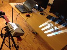 David SLS-2 3D-skannerilla 3D-skannaus käynnissä.