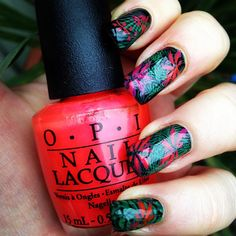 Day 12 of @gelulicious #31daynailchallenge is Tropical