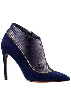Louis Vuitton Dark Blue High Heeled Ankle Boot Pre-Fall 2014 #Shoes #Heels #Booties