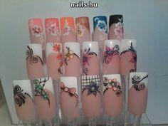 French Nails, 3d Nails, Cute Nails, Natural Nail Designs, Toe Nail Designs, Nagel Gel, Flower Nails, Nail Arts, Natural Nails