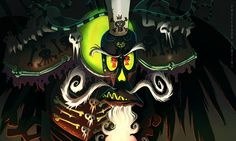 Uh-oh, someone is grumpy — Seriously, how the hell did anyone think of his eye design? I love it so much!Xibalba © Jorge Gutierrez (The Book of Life) I freaking love this movie
