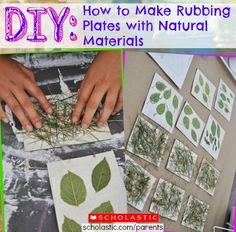 Learn how to make rubbing plates with natural materials.