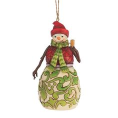 Red & Green Snowman Hanging Ornament