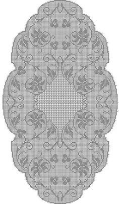 World Crochet: Tablecloth 169 - Diy Crafts Crochet Table Runner Pattern, Crochet Doily Patterns, Crochet Tablecloth, Crochet Motif, Crochet Doilies, Crochet Buttons, Thread Crochet, Crochet Stitches, Diy Crafts Crochet