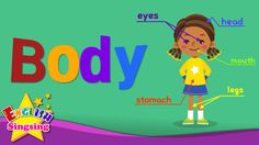 Kids vocabulary - Body - parts of body - Learn English for kids - Englis...