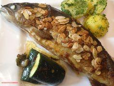 fischi`s cooking and more....: forelle mit mandelblättchen
