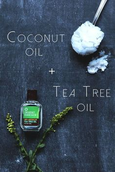Coconut Oil + Tea Tree Oil When these two oils are combined, it produces a serum that will help reduce redness in rashes and acne. The antiseptic properties will help to treat and prevent blemishes that appear on the face. Mix a few drops of tea tree oil