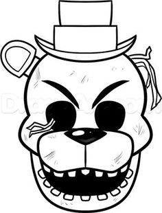 Bonnie Golden F-NaF Coloring Pages | fnaf golden freddy colouring pages