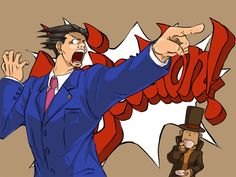 """I love how Phoenix is losing it while Layton's like """"He does this often.""""  Layton's little """"I concur!"""" made me laugh!"""