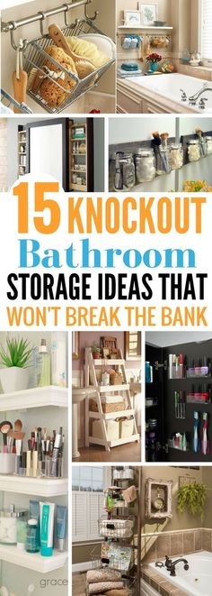 These Bathroom Storage Ideas are so gorgeous! Not only do they look great but they're actually very easy to make. So glad that I found the diy bathroom organization hacks. Number, 5, 8 and 12 are my absolute favorites.