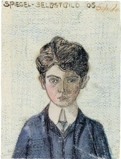 Egon Schiele - Self portrait, 1906