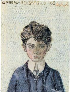 Egon Schiele - Self portrait, 1906