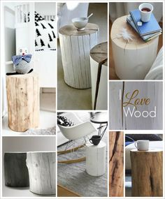 Design Therapy: pensieri e parole sul fare casa! Wooden Side Table, Cottage Chic, Home And Living, Interior Decorating, Sweet Home, Rustic, Simple, Tree Stumps, Furniture