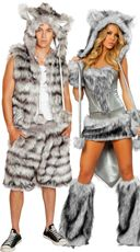 sexy wolf corset skirt and tail big bad wolf costume werewolf costume and wolf costume - Womens Wolf Halloween Costume