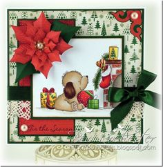 Pup's Christmas stocking from Lili of the Valley stamps.