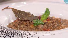 Saber cocinar - Lentejas con setas y jamón al ajillo (09/12/2011)
