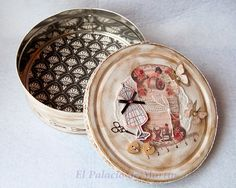 El Palacio de Martín: Cajas alteradas Altered Boxes, Altered Art, Tin, Decorative Plates, Copper, Canning, Tableware, Tutorials, Scrapbook