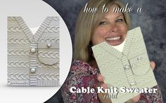 How to make a Cable Knit Sweater Card featuring Stampin Up Cable Knit Fo...