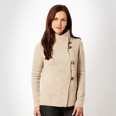 Natural shirt chunky knitted cardigan - Cardigans - Jumpers  cardigans - Women -