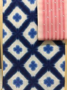 雪花絞り 博多織半幅帯 紗