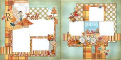 Pre cut two page scrapbook layout.